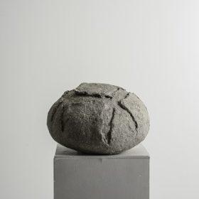 Miche de pain - sculpture papier mâché - Melanie Bourlon