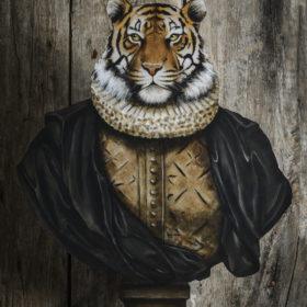 Tigre à plat, portrait
